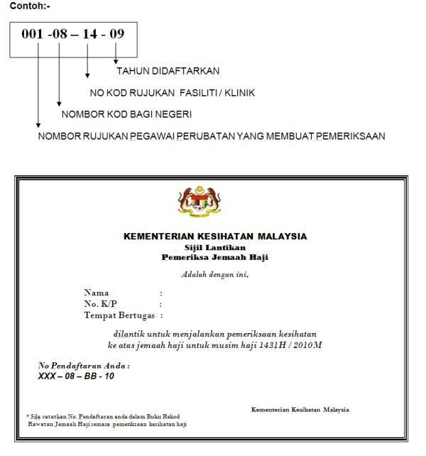 Health Screening Registration Number