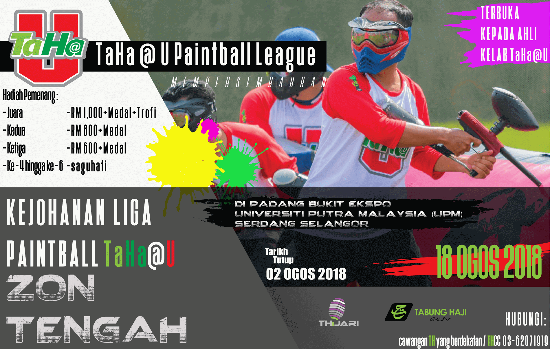 Poster Paintball TaHa@U