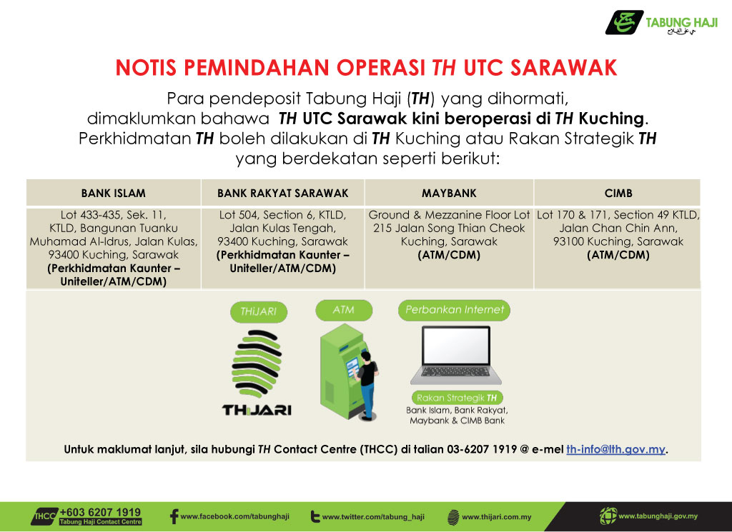 Penutupan Pejabat TH Sarawak