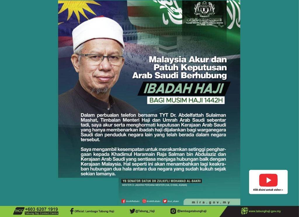 Malaysia Akur, Patuh Keputusan Arab Saudi Bagi Ibadah Haji 1442H
