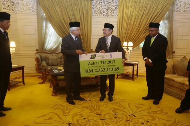 TH Bayar RM 2.3 Juta Kepada Pusat Zakat Negeri Sembilan