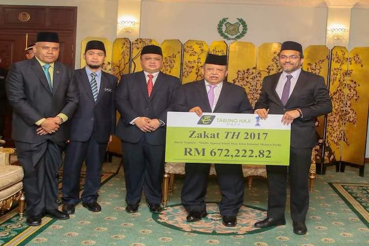 TH Bayar Zakat Perniagaan Kepada Majlis Agama Islam Dan Adat Istiadat Melayu Perlis