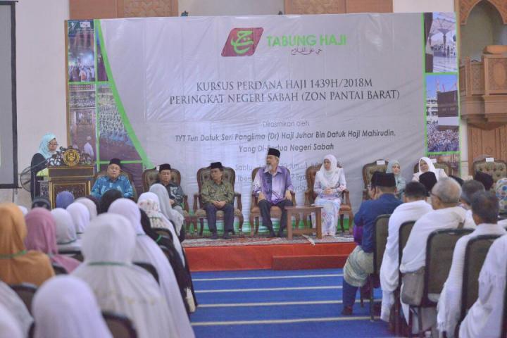 Majlis Perasmian Kursus Perdana Haji Musim Haji 1439H| 2018M Peringkat Negeri Sabah Zon Pantai Barat