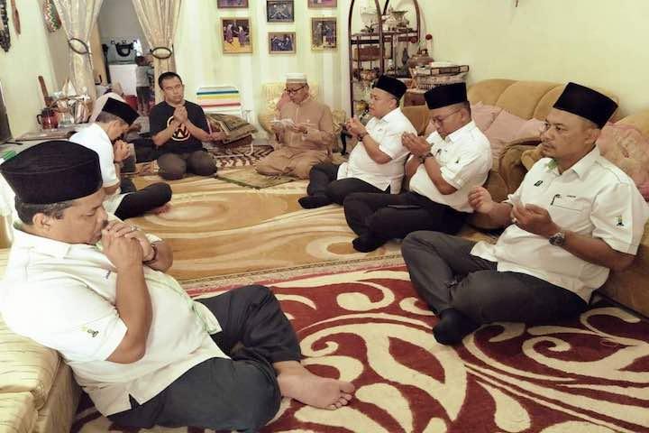 TH Johor Ziarah Tiga Waris Jemaah Haji Meninggal Dunia di Tanah Suci