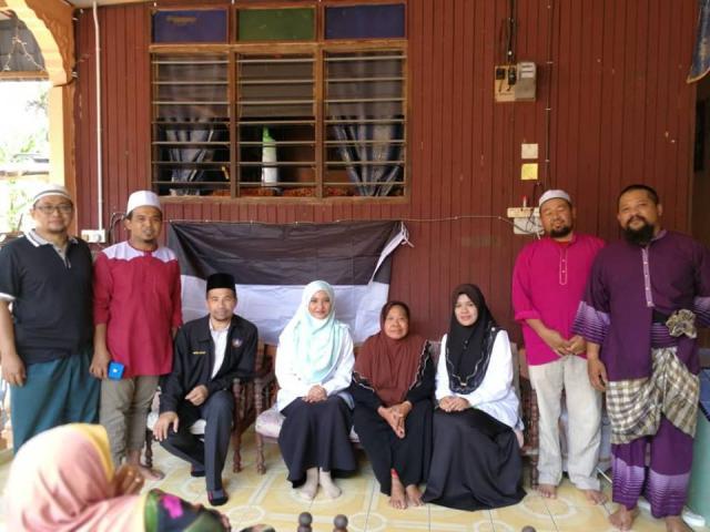 Pengarah TH Negeri Pahang Menziarahi Waris Jemaah Haji di Jengka, Pahang