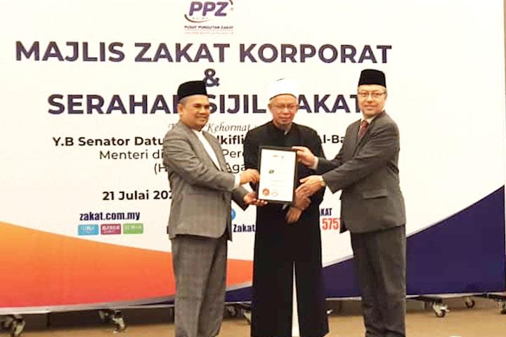 Majlis Zakat Korporat dan Serahan Sijil Zakat Pusat Pungutan Zakat Majlis Agama Islam Wilayah Persekutuan (PPZ MAIWP)